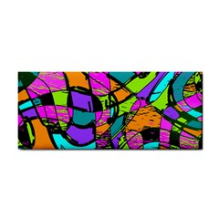 Abstract Sketch Art Squiggly Loops Multicolored Hand Towel