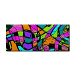 Abstract Sketch Art Squiggly Loops Multicolored Hand Towel Front
