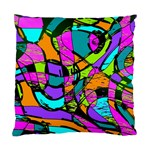 Abstract Sketch Art Squiggly Loops Multicolored Standard Cushion Case (Two Sides) Back