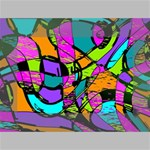 Abstract Sketch Art Squiggly Loops Multicolored Mini Canvas 6  x 4  6  x 4  x 0.875  Stretched Canvas