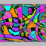 Abstract Sketch Art Squiggly Loops Multicolored Canvas 20  x 16  20  x 16  x 0.875  Stretched Canvas