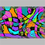 Abstract Sketch Art Squiggly Loops Multicolored Canvas 18  x 12  18  x 12  x 0.875  Stretched Canvas