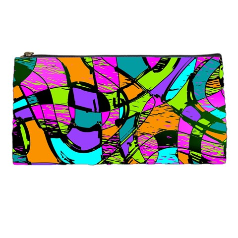 Abstract Sketch Art Squiggly Loops Multicolored Pencil Cases