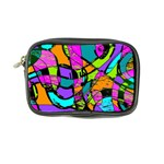 Abstract Sketch Art Squiggly Loops Multicolored Coin Purse Front