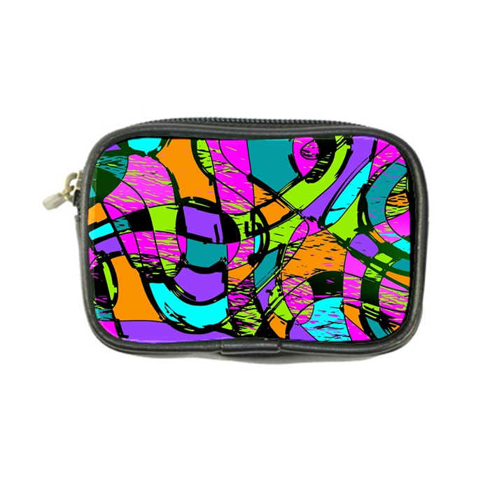 Abstract Sketch Art Squiggly Loops Multicolored Coin Purse