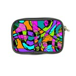 Abstract Sketch Art Squiggly Loops Multicolored Coin Purse Back
