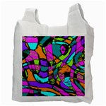 Abstract Sketch Art Squiggly Loops Multicolored Recycle Bag (Two Side)  Back