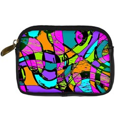 Abstract Sketch Art Squiggly Loops Multicolored Digital Camera Cases