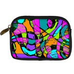 Abstract Sketch Art Squiggly Loops Multicolored Digital Camera Cases Front