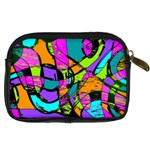 Abstract Sketch Art Squiggly Loops Multicolored Digital Camera Cases Back