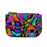Abstract Sketch Art Squiggly Loops Multicolored Mini Coin Purses Front