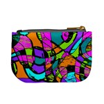 Abstract Sketch Art Squiggly Loops Multicolored Mini Coin Purses Back