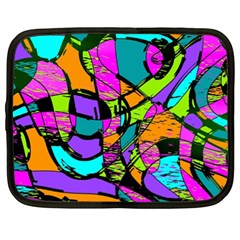 Abstract Sketch Art Squiggly Loops Multicolored Netbook Case (xl)