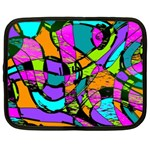 Abstract Sketch Art Squiggly Loops Multicolored Netbook Case (XXL)  Front