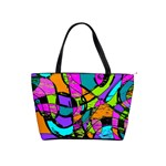 Abstract Sketch Art Squiggly Loops Multicolored Shoulder Handbags Front