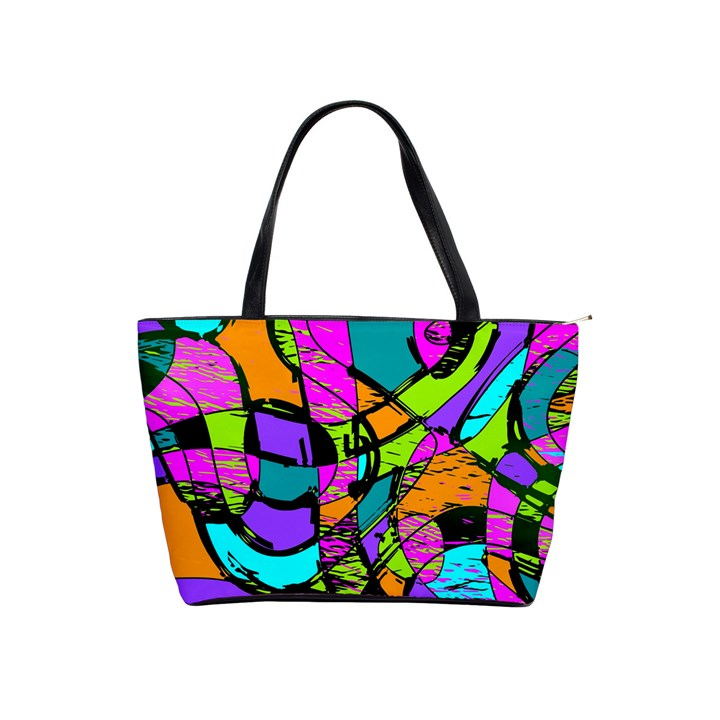 Abstract Sketch Art Squiggly Loops Multicolored Shoulder Handbags