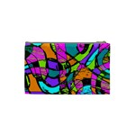Abstract Sketch Art Squiggly Loops Multicolored Cosmetic Bag (Small)  Back