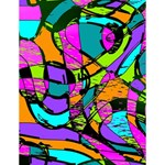 Abstract Sketch Art Squiggly Loops Multicolored Large Memo Pads 4.125 x5.5  Memopad
