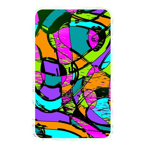 Abstract Sketch Art Squiggly Loops Multicolored Memory Card Reader