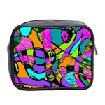 Abstract Sketch Art Squiggly Loops Multicolored Mini Toiletries Bag 2-Side Back