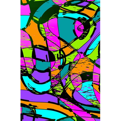 Abstract Sketch Art Squiggly Loops Multicolored 5.5  x 8.5  Notebooks