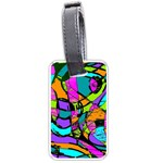Abstract Sketch Art Squiggly Loops Multicolored Luggage Tags (Two Sides) Back