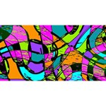 Abstract Sketch Art Squiggly Loops Multicolored Magic Photo Cubes Long Side 3