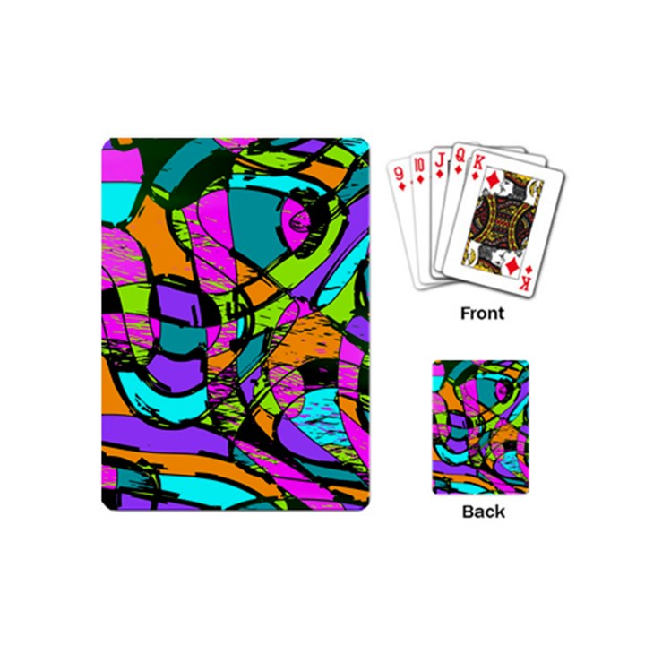Abstract Sketch Art Squiggly Loops Multicolored Playing Cards (Mini)