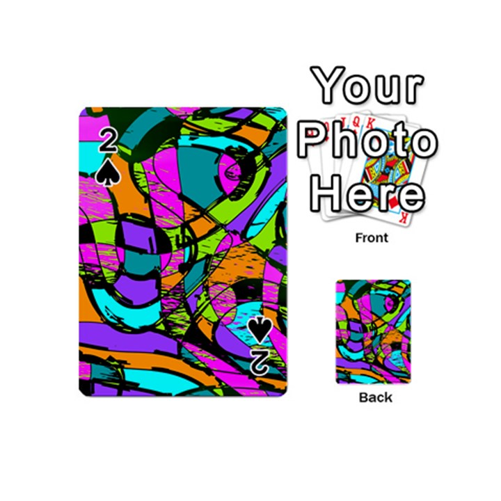 Abstract Sketch Art Squiggly Loops Multicolored Playing Cards 54 (Mini)