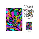 Abstract Sketch Art Squiggly Loops Multicolored Playing Cards 54 (Mini)  Front - Heart3