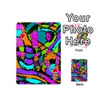 Abstract Sketch Art Squiggly Loops Multicolored Playing Cards 54 (Mini)  Front - Heart6