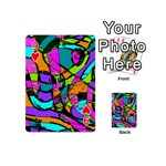 Abstract Sketch Art Squiggly Loops Multicolored Playing Cards 54 (Mini)  Front - Heart9