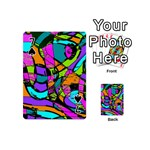 Abstract Sketch Art Squiggly Loops Multicolored Playing Cards 54 (Mini)  Front - Spade7