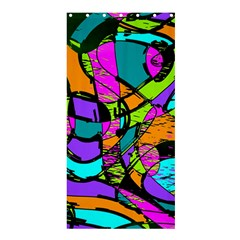 Abstract Sketch Art Squiggly Loops Multicolored Shower Curtain 36  x 72  (Stall)