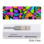 Abstract Sketch Art Squiggly Loops Multicolored Memory Card Reader (Stick)  Front
