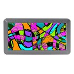 Abstract Sketch Art Squiggly Loops Multicolored Memory Card Reader (Mini) Front