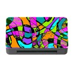 Abstract Sketch Art Squiggly Loops Multicolored Memory Card Reader with CF Front