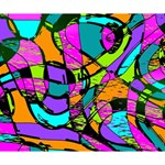 Abstract Sketch Art Squiggly Loops Multicolored Deluxe Canvas 14  x 11  14  x 11  x 1.5  Stretched Canvas