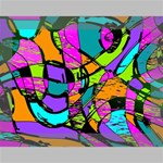 Abstract Sketch Art Squiggly Loops Multicolored Deluxe Canvas 16  x 12   16  x 12  x 1.5  Stretched Canvas