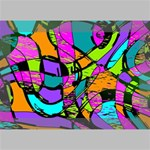 Abstract Sketch Art Squiggly Loops Multicolored Deluxe Canvas 18  x 12   18  x 12  x 1.5  Stretched Canvas