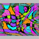 Abstract Sketch Art Squiggly Loops Multicolored Deluxe Canvas 20  x 16   20  x 16  x 1.5  Stretched Canvas