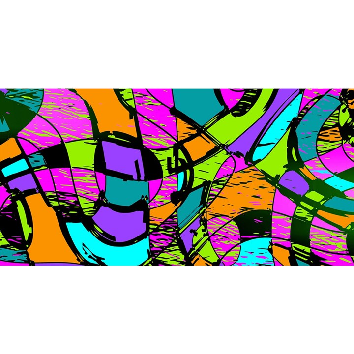 Abstract Sketch Art Squiggly Loops Multicolored YOU ARE INVITED 3D Greeting Card (8x4)