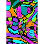 Abstract Sketch Art Squiggly Loops Multicolored Peace Sign 3D Greeting Card (7x5) Inside