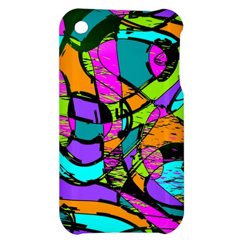 Abstract Sketch Art Squiggly Loops Multicolored Apple iPhone 3G/3GS Hardshell Case