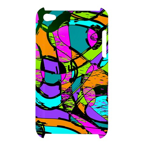 Abstract Sketch Art Squiggly Loops Multicolored Apple iPod Touch 4