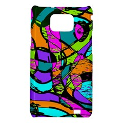 Abstract Sketch Art Squiggly Loops Multicolored Samsung Galaxy S2 i9100 Hardshell Case