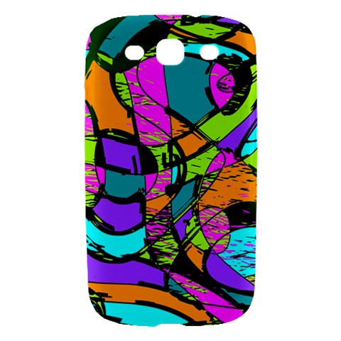 Abstract Sketch Art Squiggly Loops Multicolored Samsung Galaxy S III Hardshell Case