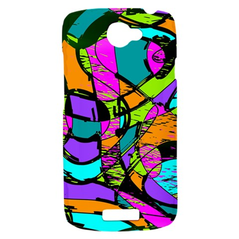 Abstract Sketch Art Squiggly Loops Multicolored HTC One S Hardshell Case
