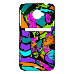 Abstract Sketch Art Squiggly Loops Multicolored HTC Evo 4G LTE Hardshell Case