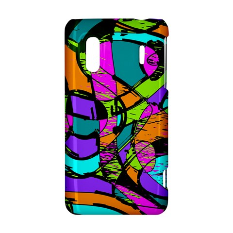 Abstract Sketch Art Squiggly Loops Multicolored HTC Evo Design 4G/ Hero S Hardshell Case